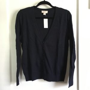 LOFT V-Neck Cardigan, Navy, Medium, NWT